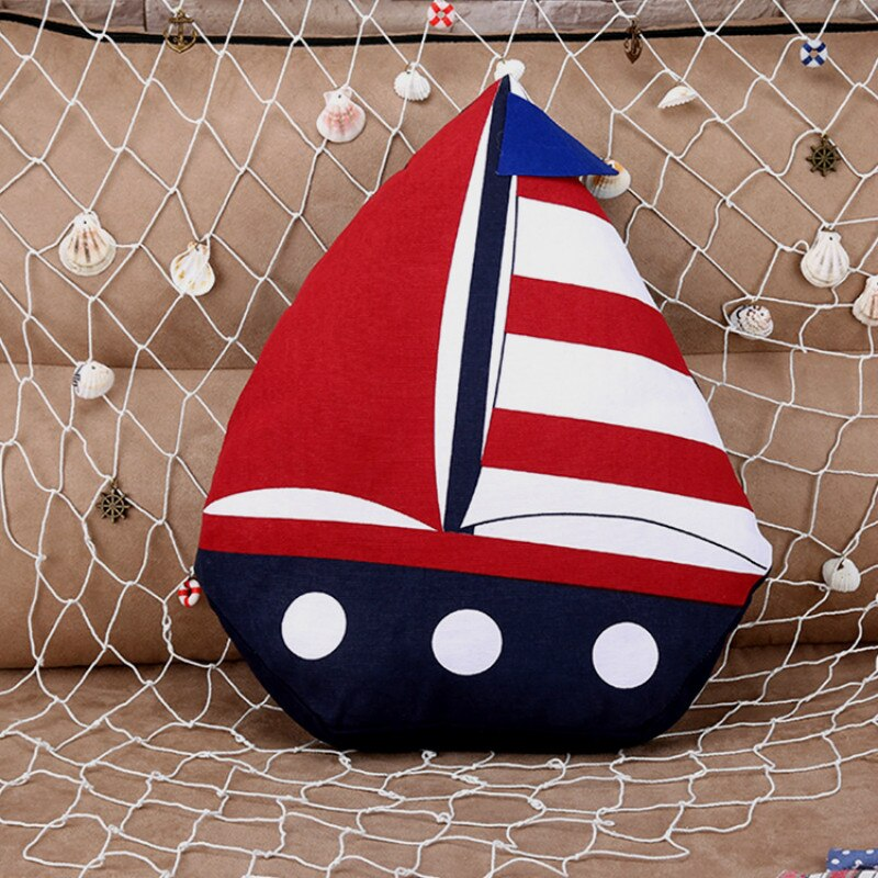 Decorative Sailboat Throw Pillow Best Children's Lighting & Home Decor Online Store