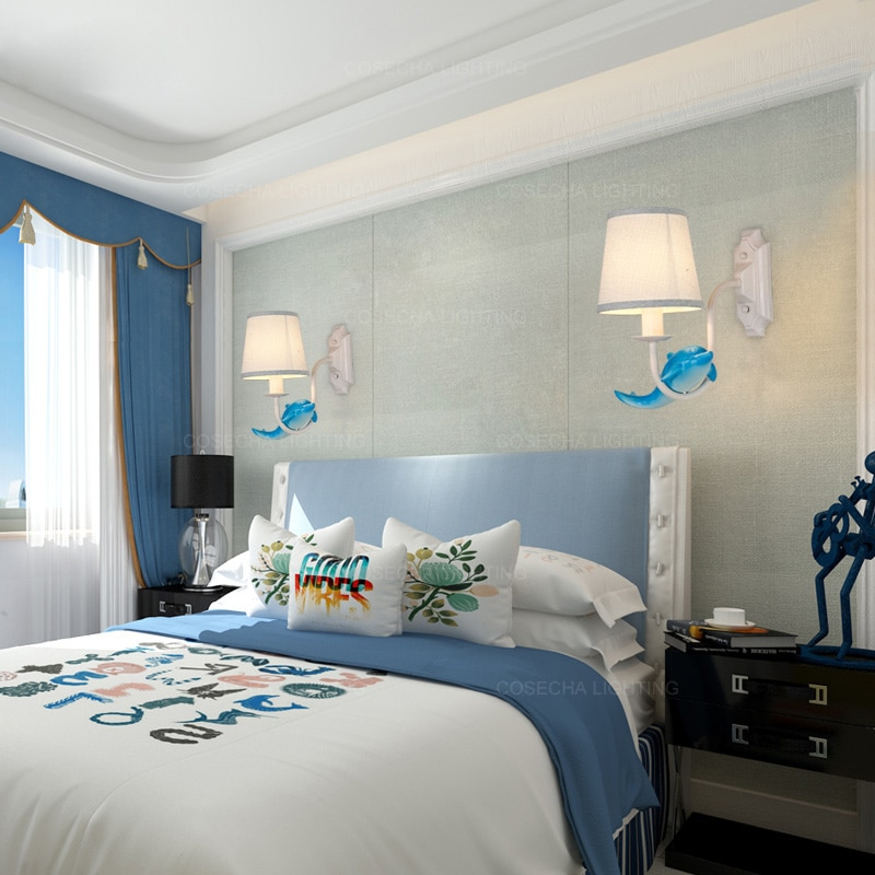 Cute Blue Wall Lamps For Babys Room Best Children's Lighting & Home Decor Online Store