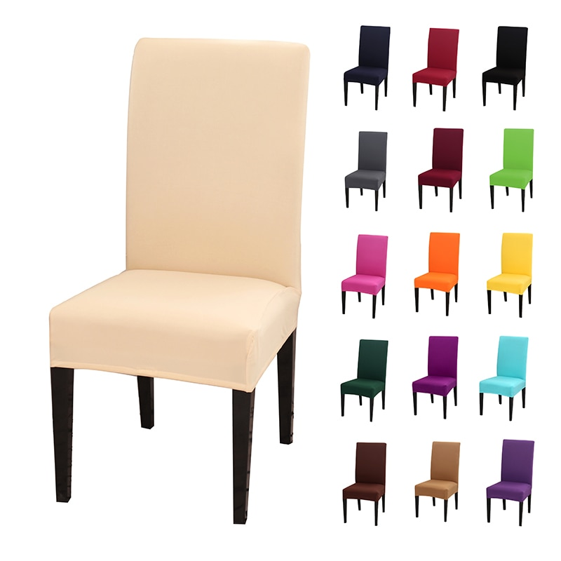 Stretch Spandex Removable Dining Room Chair Covers