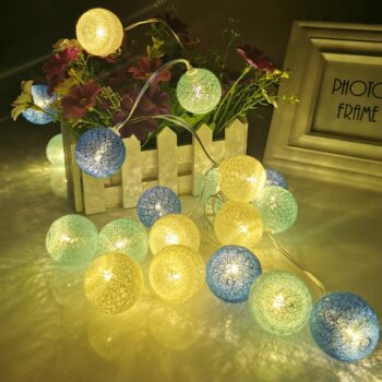 LED Cotton Garland Balls Fairy Lights Best Children's Lighting & Home Decor Online Store