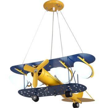 Cartoon Led Pendant Airplane Hang Lamp