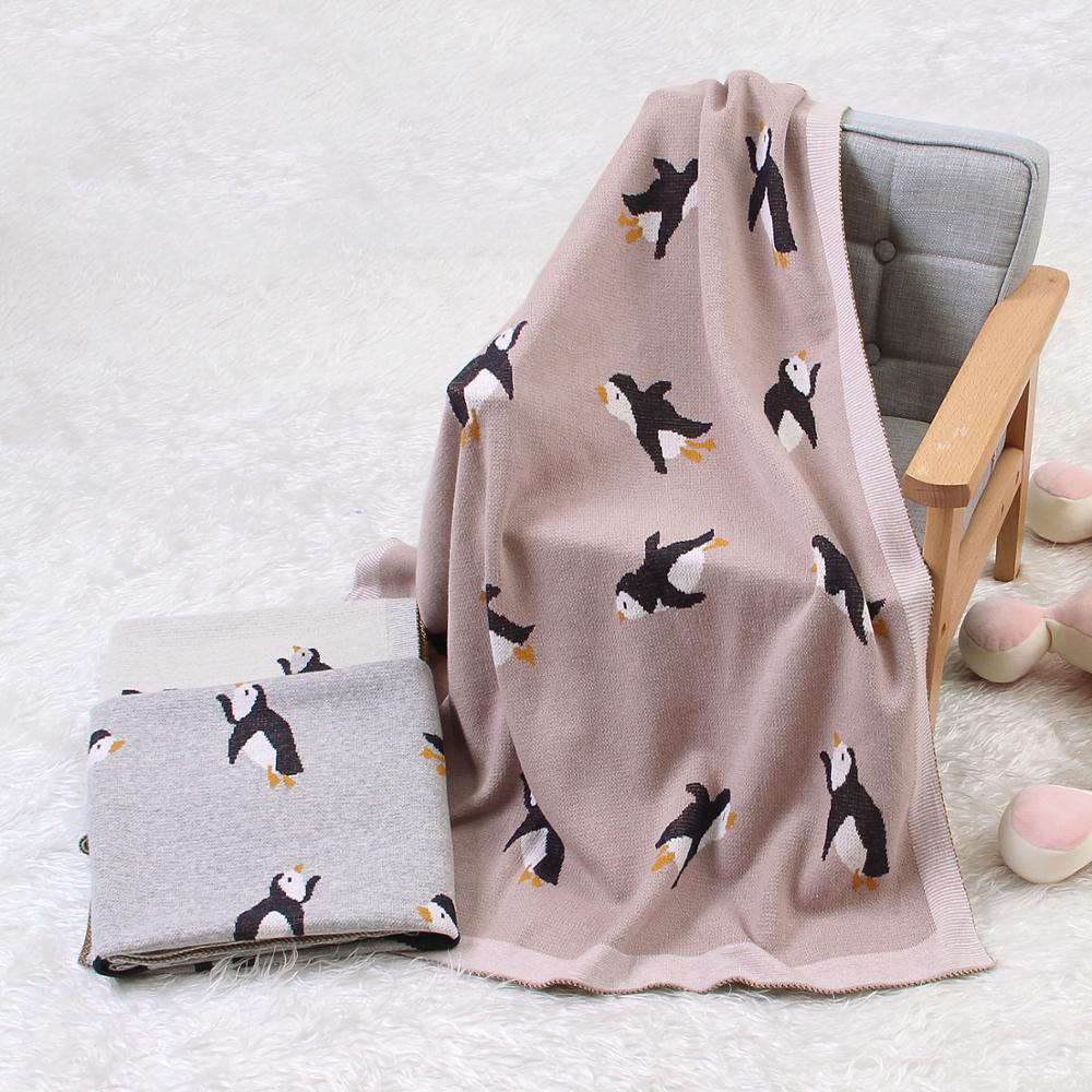 Classic Knitted Swaddle Baby Blanket For Newborn