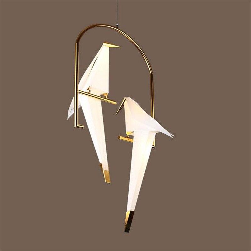2 heads Gold metal cage Bird Lights